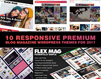 10 Responsive Premium Blog Magazine WordPress Themes