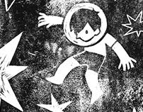 Estrellas — Linocut
