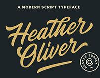 Heather Oliver - New Modern Script Font!