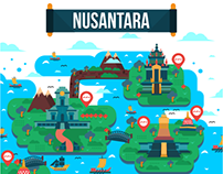 Nusantara | Bank Mandiri Poster Illustration