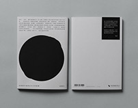 I see my eyes in the black hole : Poem Book Design