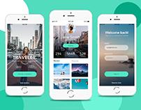 Traveler App Design