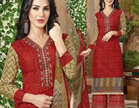 Aesthetic Cotton Printed Paki Fashion For Women