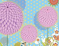 Flowers like balloon