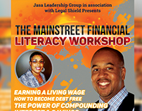 The Mainstreet Financial Literacy Workshop Flyer