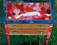 Hand Painted Floral Chest of Drawers