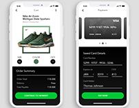 E-commerce checkout UI exploration.
