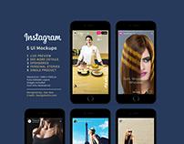 Free Instagram Sponsored, Live & Status Stories UI Mock