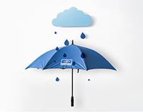 Blue Outside & Grey Inside Umbrella to Essilor Portugal