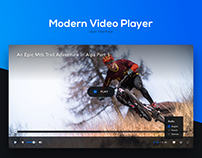 User Interface - Modern Video Player