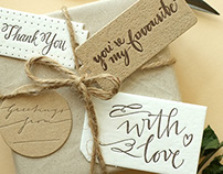 Hangtags with custom letterings