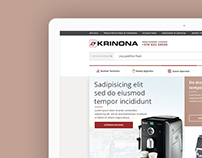 Krinona ecommerce design