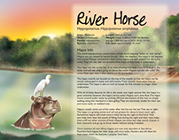 River Horse two page spread