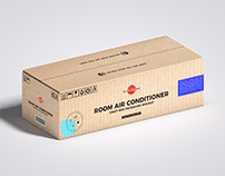 Free Room Air Conditioner Packaging Mockup
