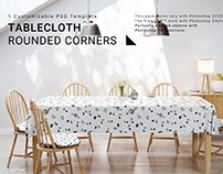 Rectangular Tablecloth with Rounded Corners