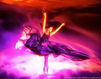 """The Dance"" - Acrylic Painting Digital Artwork"