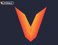 Letter V with blend tool in Adobe Illustrator