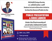 Book Launch Banner design for Richard Dambo