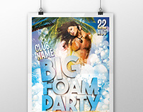 Big Foam Party Flyer/Poster
