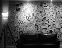 Mural - Cafeteria Aroeira - Moema / SP