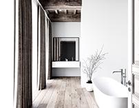 bath in the minimalist style
