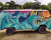 Van pintada para foodtruck festival