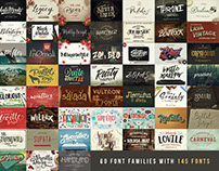 Fonts Giga Bundle - 60 Font Families