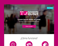 Corporate Outlet Landing page