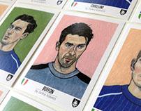 Italian Soccer Team / EM 2016 / Tschutti Heftli