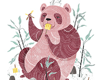 Panda with Popsicles
