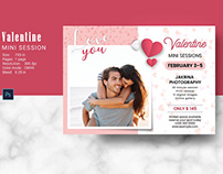 Valentines Day Mini Session Template