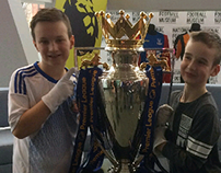 I hold the premier league trophy