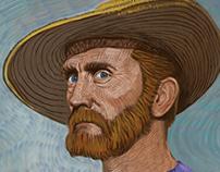 Kirk Douglas as Van Gogh
