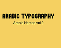 arabic typography Names vol.2