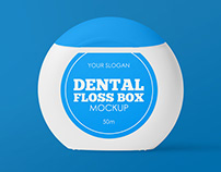 3 Free Dental Floss Box Mockups