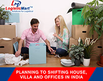 Shifting House, Villa and Office in India Easily
