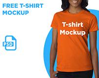 Free Women's T-Shirt Mockup