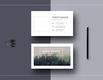 Forest Ranger Business Card Free