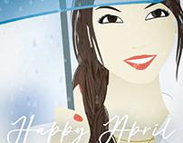 Happy April - Illustration