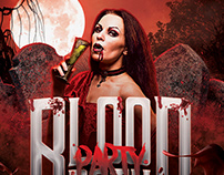 Blood Bath Halloween Flyer