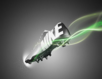 【NIKE】Football shoes poster