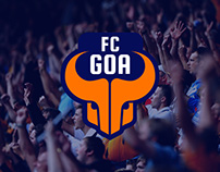 FC Goa - Team Launch Event Invite & Print Ad Design