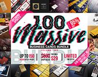 100 Massive Business Cards Bundle V2