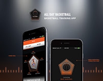 UX/UI Design - All Day Basketball Training App