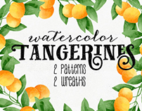 Watercolor Tangerines
