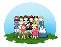 Illustration - Miyazaki's Girls