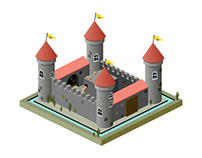 Isometric Medieval Castle