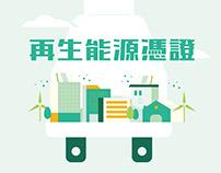 台灣國際太陽光電展——國家再生能源憑證中心成果展牆 & DM摺頁設計