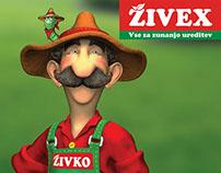 ŽIVEX  | Identitiy concept and mascote