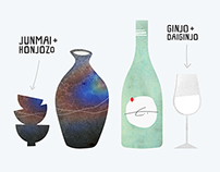 Edible Manhattan: Sake Illustration